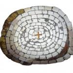 Pieria-mosaic with cross