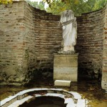 Statue od Isida of Chance in the socket of her temple at Dion